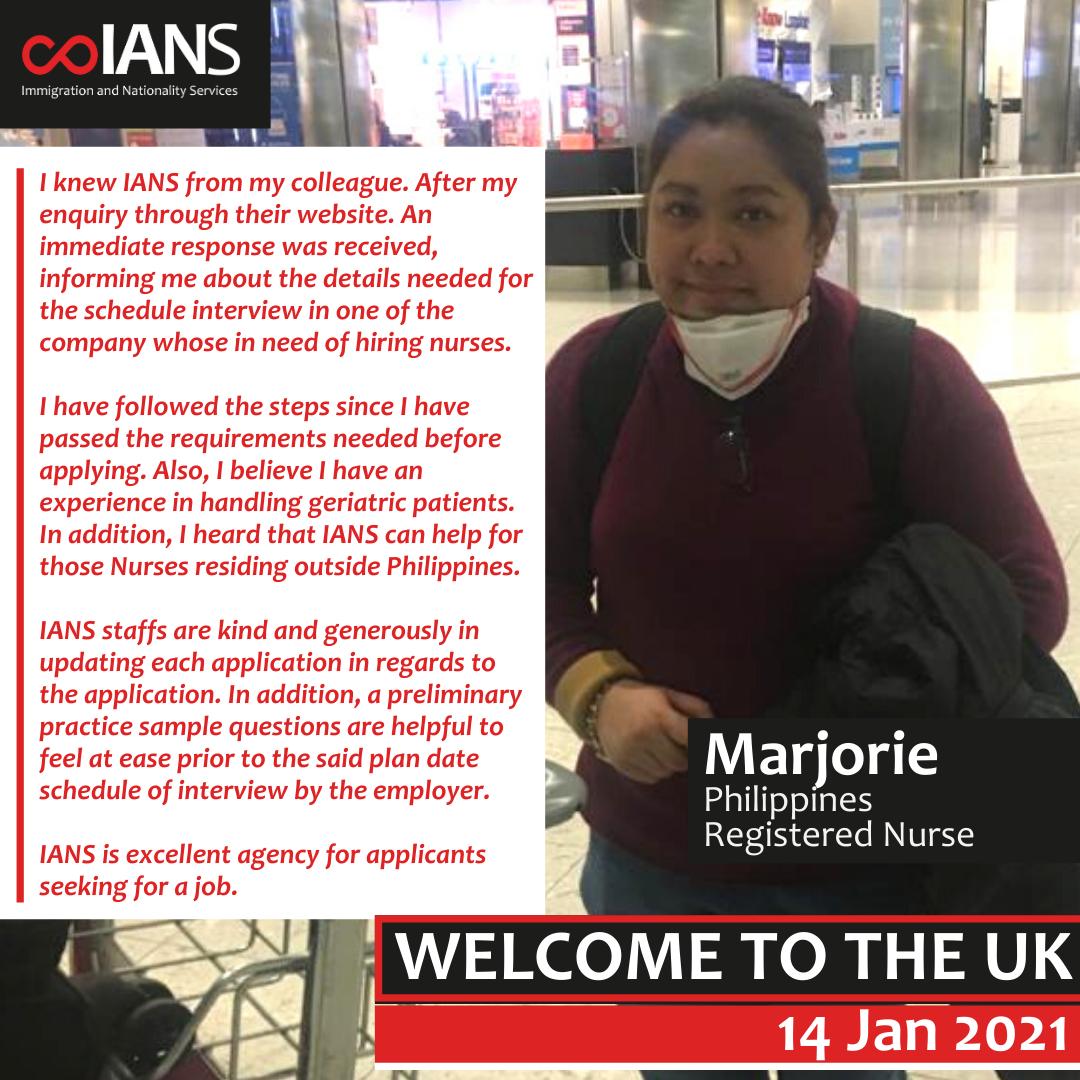 Welcome Marjorie Marzan
